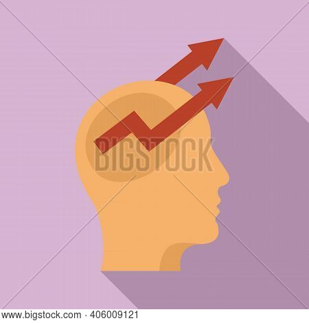 Control Mind Icon. Flat Illustration Of Control Mind Vector Icon For Web Design