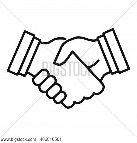 Life Handshake Icon. Outline Life Handshake Vector Icon For Web Design Isolated On White Background