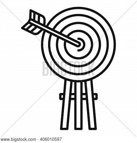 Life Skills Arch Target Icon. Outline Life Skills Arch Target Vector Icon For Web Design Isolated On