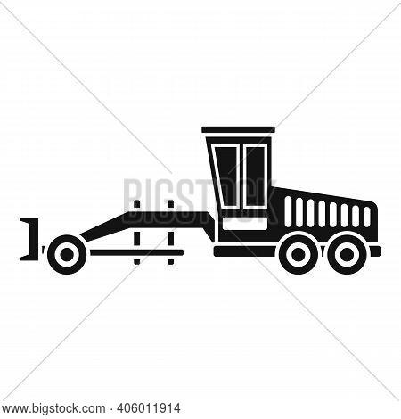 Grader Machine Machinery Icon. Simple Illustration Of Grader Machine Machinery Vector Icon For Web D