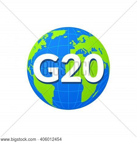 G20 World Globe Infographic Map Icon Summit