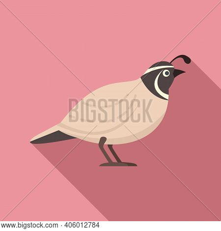 Quail Adorable Icon. Flat Illustration Of Quail Adorable Vector Icon For Web Design