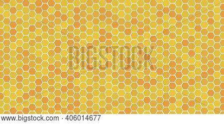 Hexagonal Honeycomb Bee Background Pattern Vector Abstract. Honeycomb Bee Hive