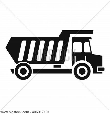 Tipper Unloading Icon. Simple Illustration Of Tipper Unloading Vector Icon For Web Design Isolated O