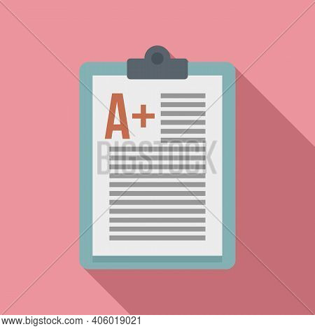 Foreign Language Positive Test Icon. Flat Illustration Of Foreign Language Positive Test Vector Icon