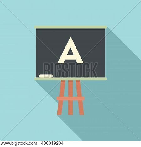 Foreign Language Board Study Icon. Flat Illustration Of Foreign Language Board Study Vector Icon For