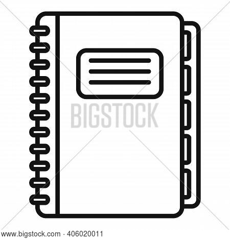 Notebook Foreign Language Icon. Outline Notebook Foreign Language Vector Icon For Web Design Isolate