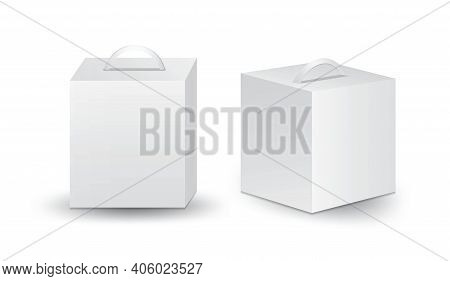 White Package Box Vector, Package Design, 3d Box, Product Design, Mockup Boxe Design, Realistic Pack