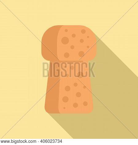 Bottle Cork Icon. Flat Illustration Of Bottle Cork Vector Icon For Web Design