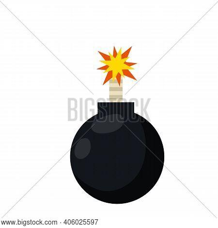 Bomb Explosion. Danger Sign For App Explosion. Black Military Facility. Danger Sign. Bang And Blast.