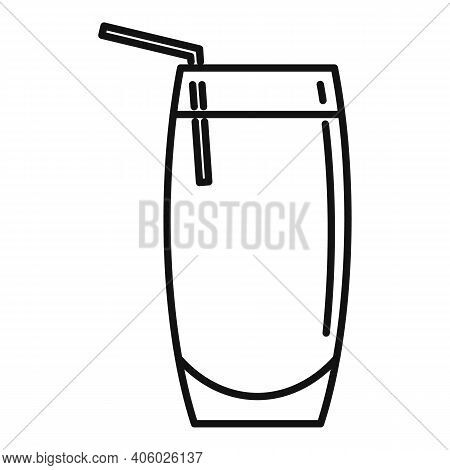 Drink Soda Icon. Outline Drink Soda Vector Icon For Web Design Isolated On White Background