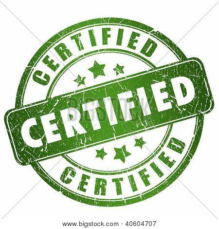 Certified grunge stamp