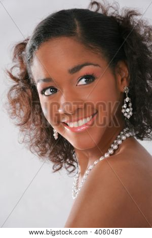 Beautiful Young African Amercian Female Model