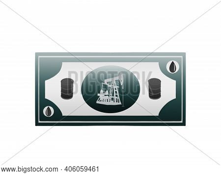 Digital Design Of A Banknote Related To Oil Theme