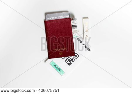 Covid-19 Serological Rapid Diagnostic Test On A Passport,allows You Travel During Lockdown,immunity