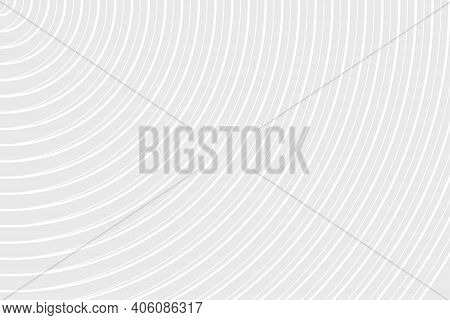 Abstract Background Circle Curve Part. Monochromatic White Lines Texture. On Gray Background. Reflec