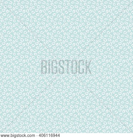 Blue And White Cheetah Print, Leopard Pattern, Animal Repeat, Seamless Repeat Pattern Background, Sm