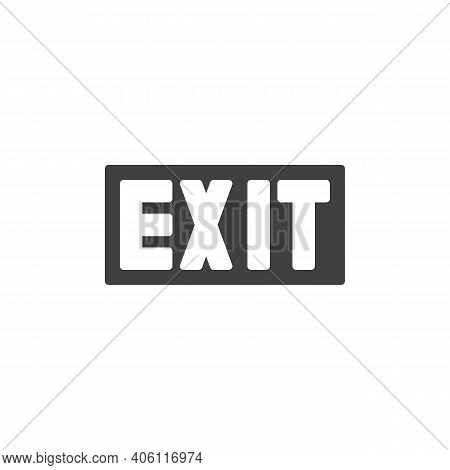 Exit Way Vector Icon. Filled Flat Sign For Mobile Concept And Web Design. Exit Glyph Icon. Symbol, L
