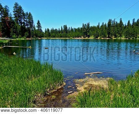 Lake In The Forest - A View Looking Across Walton Lake - Ochoco Mountains - Northeast Of Prineville,