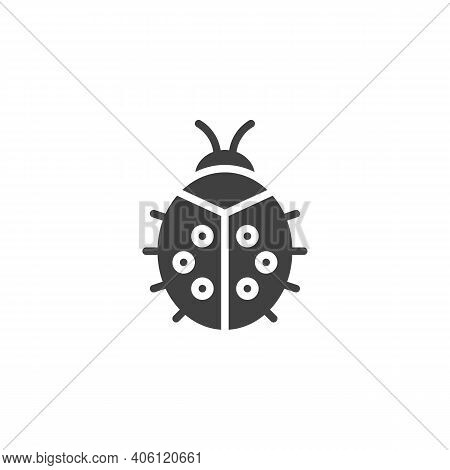 Ladybug Vector Icon. Filled Flat Sign For Mobile Concept And Web Design. Ladybird Glyph Icon. Symbol