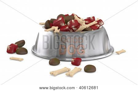 Dog Food. 3D Model Isolated On White