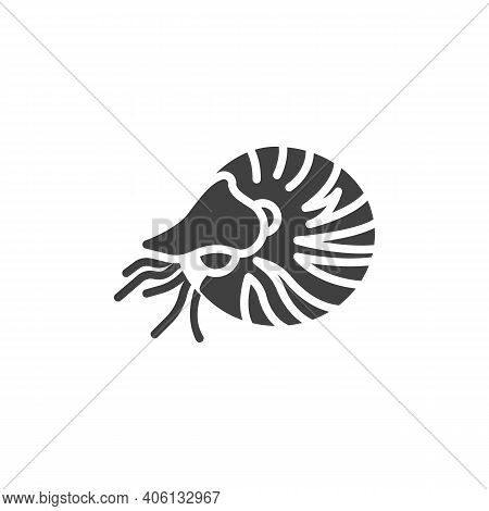 Marine Mollusks Line Icon. Linear Style Sign For Mobile Concept And Web Design. Shrimp Mollusk Outli