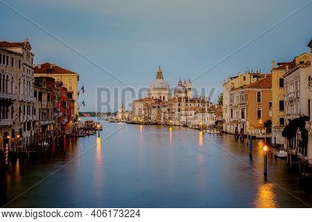 Canals Of Venice Italy During Summer In Europe, Architecture And Landmarks Of Venice. Italy Europe.