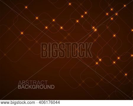 Abstract Technology Background With Glowing Communication Lines. Futuristic Design