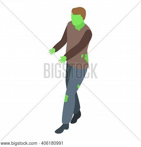 Zombi Man Icon. Isometric Of Zombi Man Vector Icon For Web Design Isolated On White Background