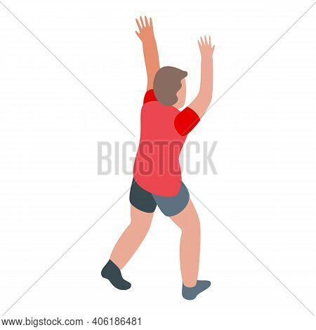 Volleyball Player Motion Icon. Isometric Of Volleyball Player Motion Vector Icon For Web Design Isol