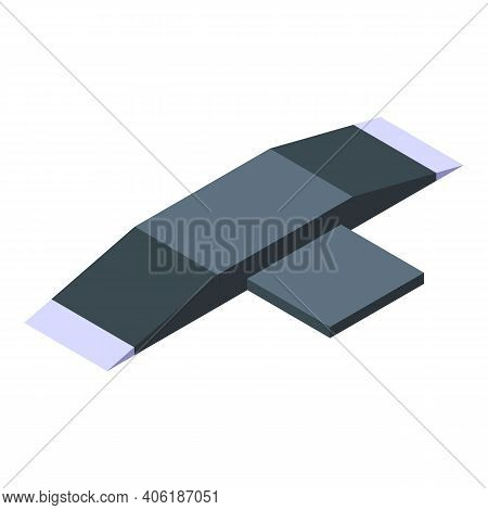 Skateboard Ramp Icon. Isometric Of Skateboard Ramp Vector Icon For Web Design Isolated On White Back