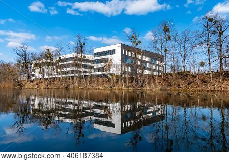 Wroclaw, Poland - March 8 2020 Faculty Of Geoengineering, Mining And Geology Of Wroclaw University O