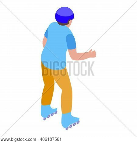 Sport Rollerblade Icon. Isometric Of Sport Rollerblade Vector Icon For Web Design Isolated On White