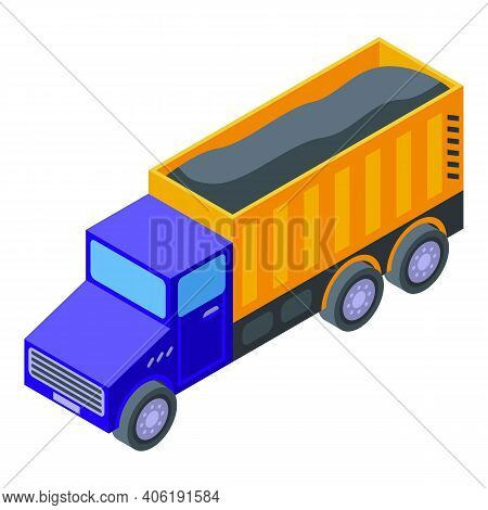 Truck Tunnel Icon. Isometric Of Truck Tunnel Vector Icon For Web Design Isolated On White Background