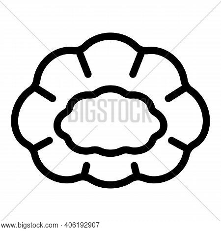Uniform Hair Cover Icon. Outline Uniform Hair Cover Vector Icon For Web Design Isolated On White Bac