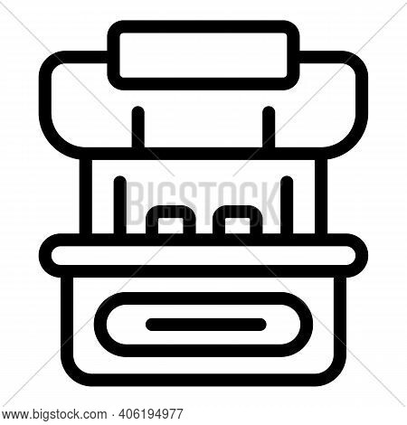 Food Stall Icon. Outline Food Stall Vector Icon For Web Design Isolated On White Background