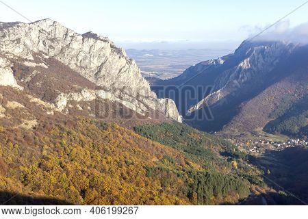 Amazing Autumn Landscape Of Balkan Mountains And Vratsata Pass, Bulgaria