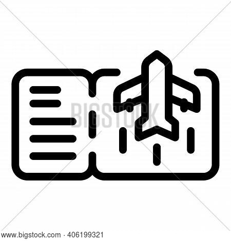 Boarding Pass Ticket Icon. Outline Boarding Pass Ticket Vector Icon For Web Design Isolated On White