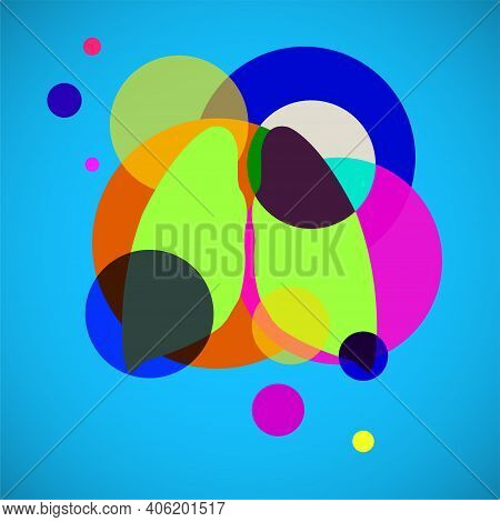 Human Lungs Logo, Colorful Circles With Overlapping