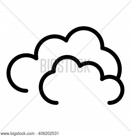 Cloudy Day Icon. Outline Cloudy Day Vector Icon For Web Design Isolated On White Background
