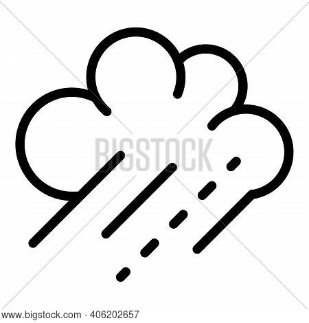 Drizzle Clouds Icon. Outline Drizzle Clouds Vector Icon For Web Design Isolated On White Background