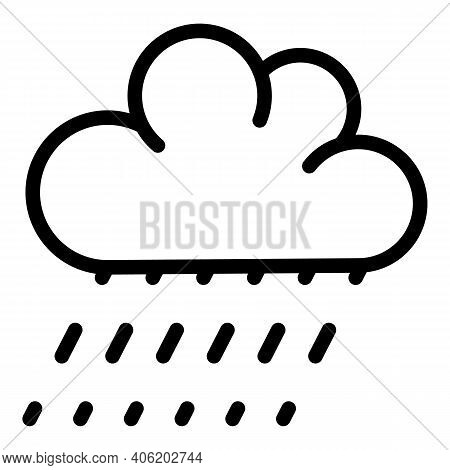 Drizzle Weather Icon. Outline Drizzle Weather Vector Icon For Web Design Isolated On White Backgroun