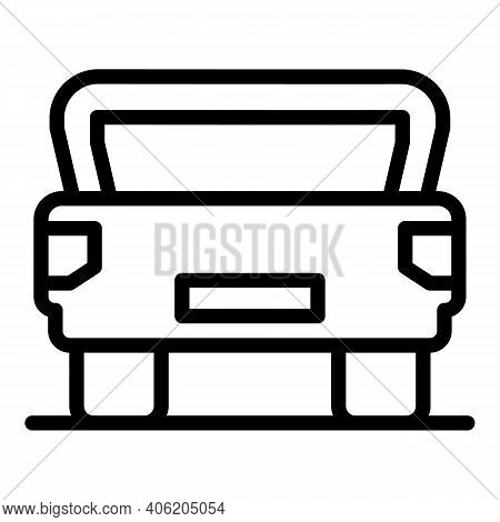 Open Trunk Door Icon. Outline Open Trunk Door Vector Icon For Web Design Isolated On White Backgroun