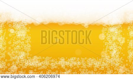 Splash Beer. Background For Craft Lager. Oktoberfest Foam. Pab Banner Design. Pour Pint Of Ale With