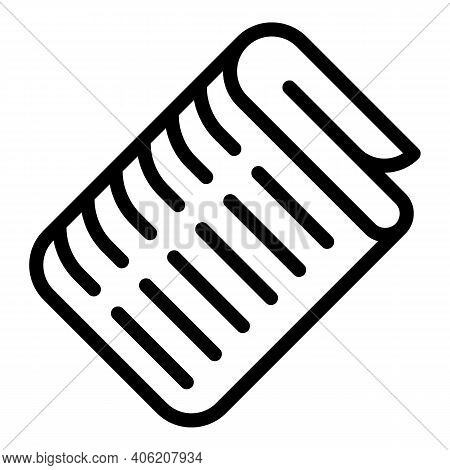 Newspaper Stack Icon. Outline Newspaper Stack Vector Icon For Web Design Isolated On White Backgroun