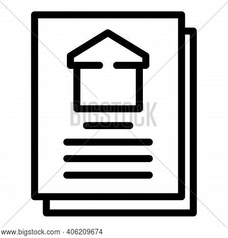Builder House Plan Icon. Outline Builder House Plan Vector Icon For Web Design Isolated On White Bac