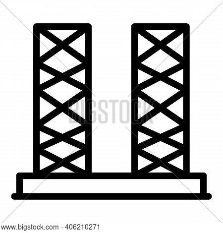 Builder Pillar Icon. Outline Builder Pillar Vector Icon For Web Design Isolated On White Background