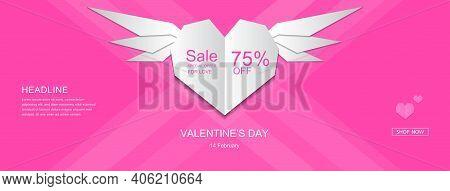 Valentine, Valentines Day Banner, Valentines Day Flyer, Valentines Day Sale Banner, Heart Element, V