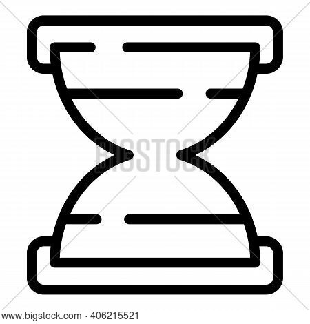 Property Investments Hourglass Icon. Outline Property Investments Hourglass Vector Icon For Web Desi