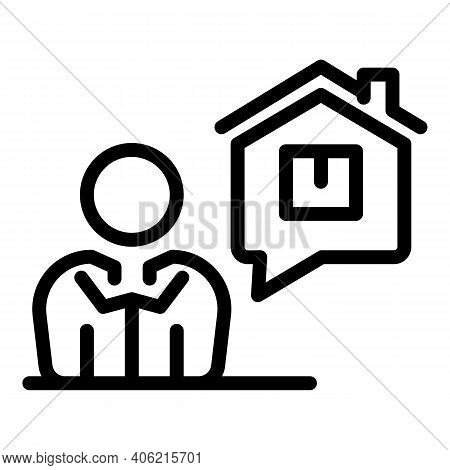 Home Property Investments Icon. Outline Home Property Investments Vector Icon For Web Design Isolate